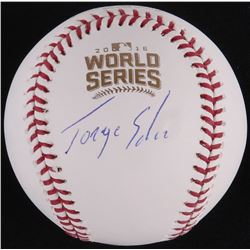 Jorge Soler Signed Official 2016 World Series Baseball (Schwartz COA)