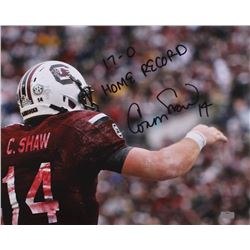 "Connor Shaw Signed South Carolina Gamecocks 16x20 Photo Inscribed ""17-0 Home Record"" (Radtke Hologra"