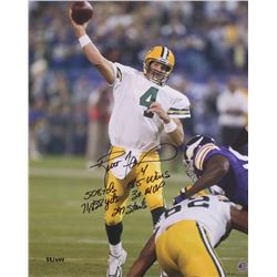 Brett Favre Signed LE Packers 16x20 Photo With (5) Inscriptions (Favre COA)