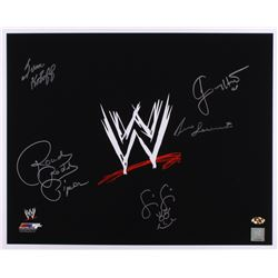 WWE 16x20 Photo Signed by (5) with Ivan Koloff, Roddy Piper, Jimmy Hart, Fifi the Maid  Bruno Sammar