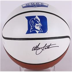Christian Laettner Signed Limited Edition Duke University Blue Devils Logo Basketball (JSA COA)