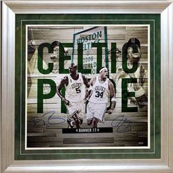 "Paul Pierce  Kevin Garnett Signed ""Celtic Pride"" 24x24 Custom Framed Photo Display (Steiner COA)"