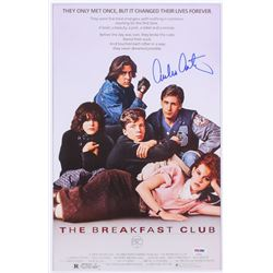 "Emilio Estevez Signed ""The Breakfast Club"" 11x17 Movie Poster (PSA COA)"