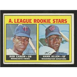 1967 Topps #569 Rookie Stars Rod Carew RC / Hank Allen RC DP