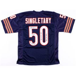 Mike Singletary Signed Bears Jersey with (4) Inscriptions (Schwartz COA)