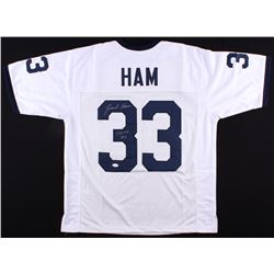 "Jack Ham Signed Penn State Nittany Lions Jersey Inscribed ""CHOF 90"" (JSA COA)"