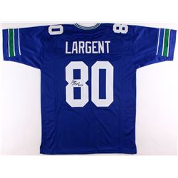 "Steve Largent Signed Seahawks Jersey Inscribed ""HOF '95"" (JSA COA)"