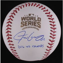 "Justin Grimm Signed Official 2016 World Series Baseball Inscribed ""2016 WS Champs"" (Schwartz COA)"