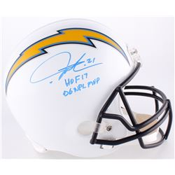 "LaDainian Tomlinson Signed Chargers Full-Size Helmet Inscribed ""HOF 17""  ""06 NFL MVP"" (Tomlinson Hol"