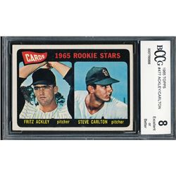 1965 Topps #477 Rookie Stars Fritz Ackley / Steve Carlton RC (BCCG 8)
