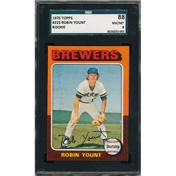 1975 Topps #223 Robin Yount RC (SGC 8)