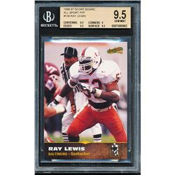 1996-97 Score Board All Sport PPF #139 Ray Lewis (BGS 9.5)