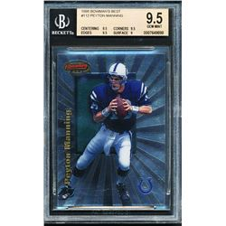 1998 Bowman's Best #112 Peyton Manning RC (BGS 9.5)