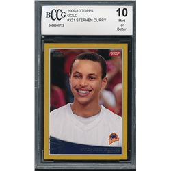 2009-10 Topps Gold #321 Stephen Curry RC #1123/2009 (BCCG 10)