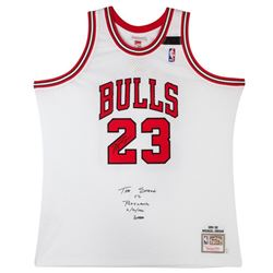 "Michael Jordan Signed LE Bulls Jersey Embroidered ""The Shark vs Portland 6/30/1992"" (UDA COA)"
