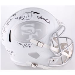 "Dwight Clark  Joe Montana Signed 49ers ""The Catch"" Full-Size Speed Helmet Inscribed ""1.10.82""  Game"