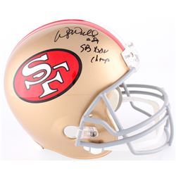 "Wesley Walls Signed 49ers Full-Size Throwback Helmet Inscribed ""SB XXIV Champ"" (Radtke COA)"