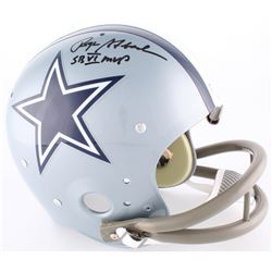 "Roger Staubach Signed Cowboys Full-Size TK Suspention Helmet Inscribed ""SB VI MVP"" (Radtke Hologram)"