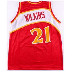 Dominique Wilkins Signed Hawks Throwback Jersey (TriStar Hologram)