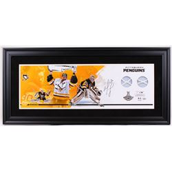 Matt Murray Signed Penguins 17x37 Custom Framed Game-Used Finals Net Display (Fanatics)