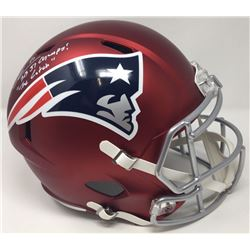 "Julian Edelman Signed Patriots Limited Edition Full Size Blaze Speed Helmet Inscribed ""SB 51 Champs!"