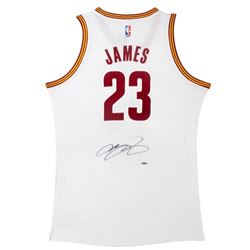 LeBron James Signed Cavaliers Authentic Adidas Home Jersey (UDA COA)