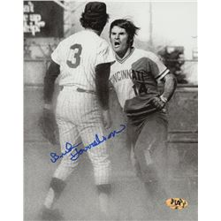 Bud Harrelson Signed Mets 8x10 Photo with Pete Rose (MAB Hologram)