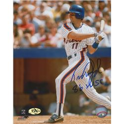 "Tim Teufel Signed Mets 8x10 Photo Inscribed ""86 WSC"" (MAB Hologram)"