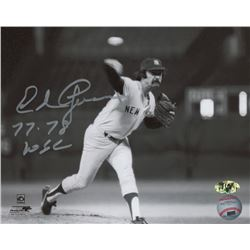 Ed Figueroa Signed Yankees 8x10 Photo (MAB Hologram)