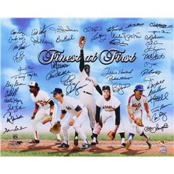 """Finest at First"" 16x20 Photo Signed by (44) with Bill Madlock, Carlos May, Frank Howard, Bob Johnso"