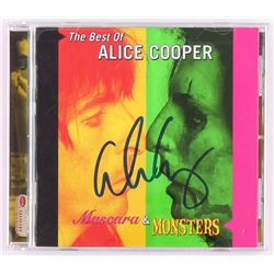 "Alice Cooper Signed ""The Best Of Alice Cooper"" CD Album Cover (Beckett COA)"