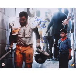 "Joe Greene  Tommy Okron Signed ""Hey Kid, Catch"" Coca Cola Commercial 16x20 Photo Inscribed ""Hey Kid,"