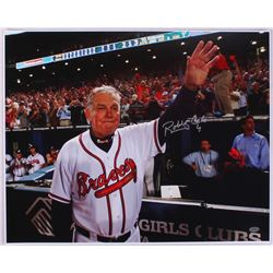 "Bobby Cox Signed Braves ""Farewell Final Game"" 16x20 Photo (The Sports Mix COA)"