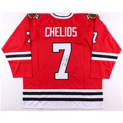 Chris Chelios Signed Blackhawks Jersey (JSA COA)