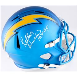 "Kellen Winslow Signed Chargers Blaze Speed Full-Size Helmet Inscribed ""HOF 95"" (JSA COA)"