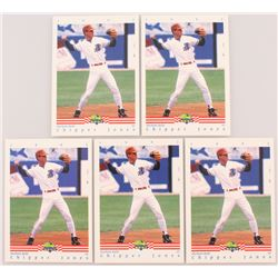 Lot of (5) 1992 Classic/Best #93 Chipper Jones