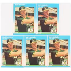 Lot of (5) 1987 Fleer Update #76 Mark McGwire
