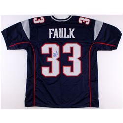 "Kevin Faulk Signed Patriots Jersey Inscribed ""N.E. Pats"" (JSA COA)"