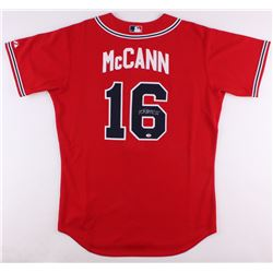 Brian McCann Signed Braves Authentic Majestic Jersey (Radtke COA)