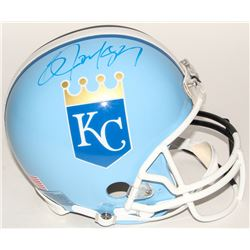 Bo Jackson Signed Raiders / Royals Split Full-Size Authentic On-Field Helmet (Jackson Hologram)