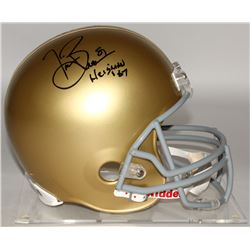 "Tim Brown Signed Notre Dame Fighting Irish Full-Size Helmet Inscribed ""Heisman '87"" (Brown Hologram)"