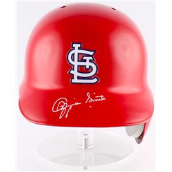Ozzie Smith Signed Cardinals Full-Size Authentic On-Field Batting Helmet (JSA COA)