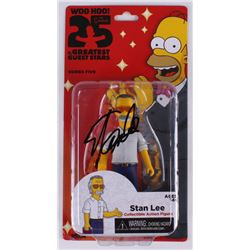 """Stan Lee Signed The Simpsons """"25 of the Greatest Guest Stars"""" Series 5 Action Figure (FSC COA)"""