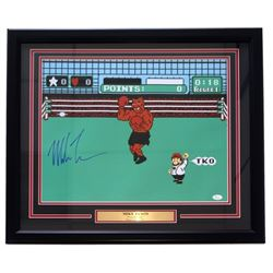 """Mike Tyson Signed """"Punch Out"""" 22x27 Custom Framed Photo Display (JSA COA)"""