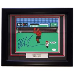 """Mike Tyson Signed """"Punch Out"""" 11x14 Custom Framed Photo Display with Engraved Nameplate (JSA COA)"""