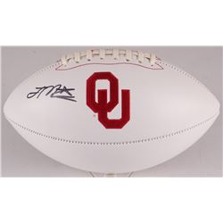 Joe Mixon Signed Oklahoma Sooners Logo Football (JSA COA)