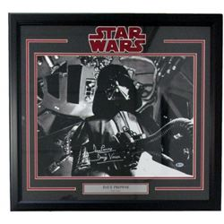 "Dave Prowse Signed ""Star Wars"" 22x27 Custom Framed Photo Display Inscribed ""Darth Vader""  (Beckett C"
