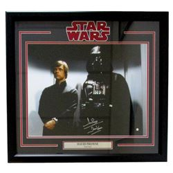 "Dave Prowse Signed ""Star Wars"" 22x27 Custom Framed Photo Display Inscribed ""Darth Vader"" (Steiner CO"