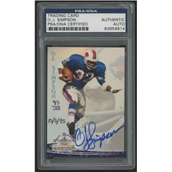 "O.J. Simpson Signed LE 1994 Ted Williams #8 Dated ""10/3/95"" (PSA Encapsulated)"