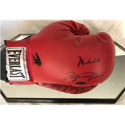 Muhammad Ali  Michael Jordan Signed Everlast Boxing Glove with High Quality Display Case (JSA LOA  U